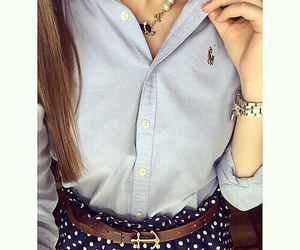 fashion, girl, and preppy image