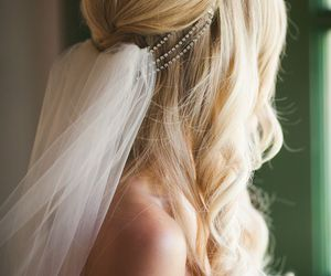 beauty, bride, and hair image