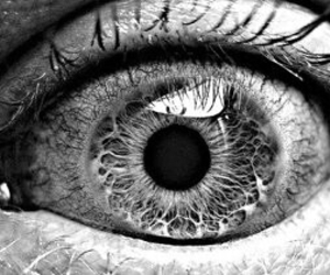 eye, black and white, and black image