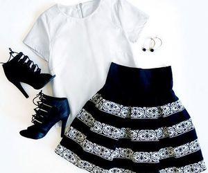girly, skirt, and heels image