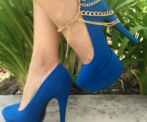 blue, chain, and shoes image