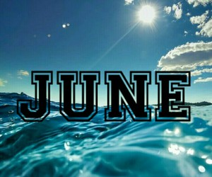 june, sea, and month image