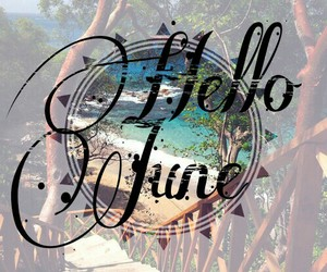 beach, nice, and hello june image