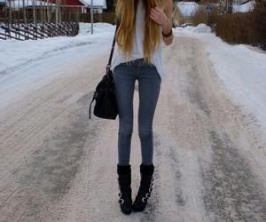 skinny, fashion, and girl image