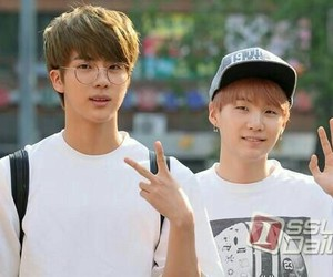 jin, suga, and bts image