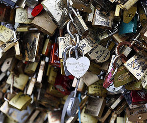 locks, paris, and love image