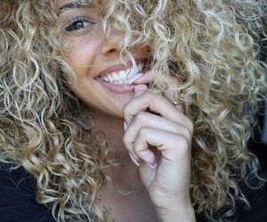 curly and smile image