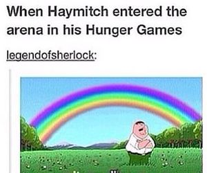 the hunger games, haymitch, and funny image