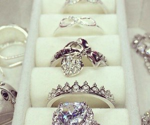 diamond, rings, and ring image