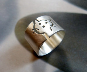 cat, jewelry, and statement ring image