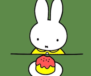 green, miffy, and yellow image