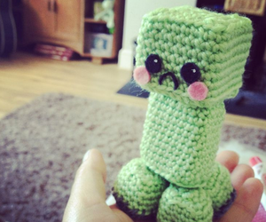 minecraft, creeper, and cute image