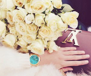beautiful, bouquet, and fashion image