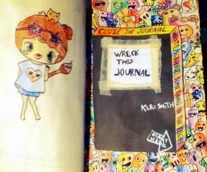 art, wreck this journal, and book image