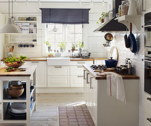 kitchen, white, and country image