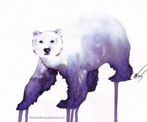 animal, art, and melting image