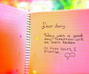 diary, heart, and tears image