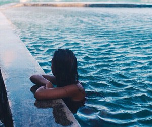 girl, summer, and water image