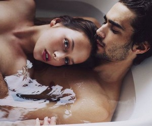 bath, couple, and he image