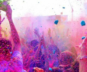 colors, party, and holi image