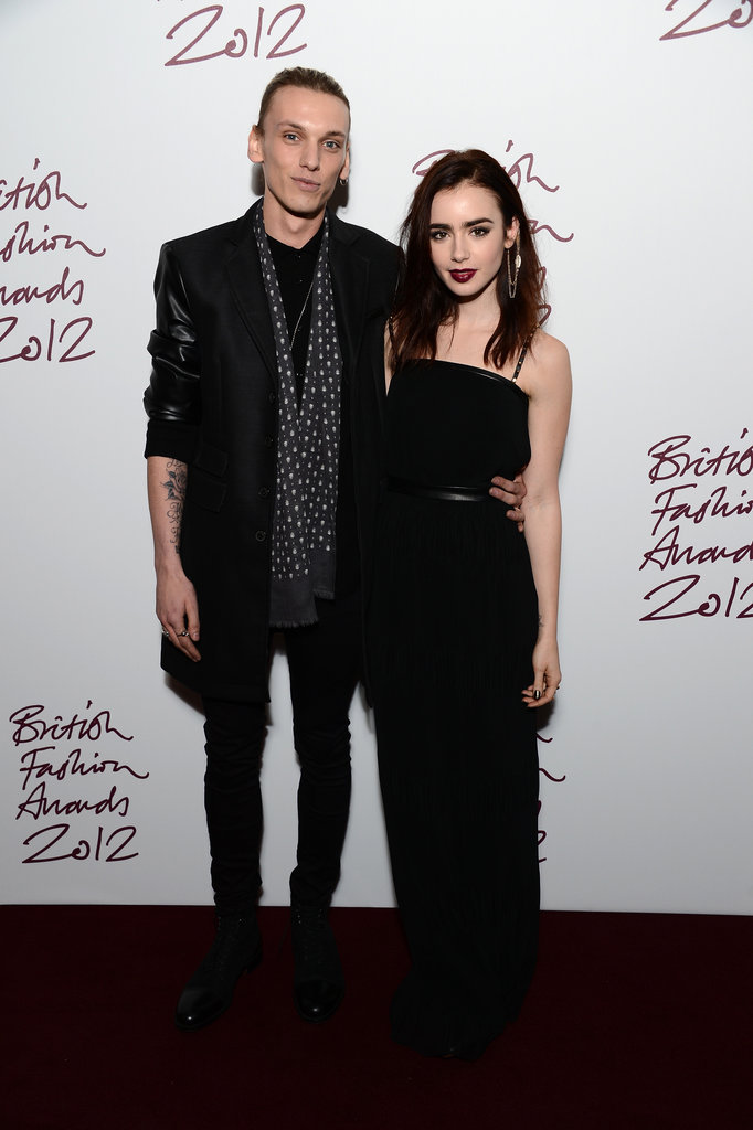 lily collins, couple, and the mortal instruments image
