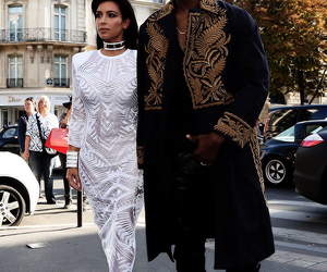 kim kardashian, fashion, and kanye west image