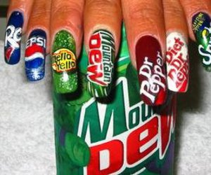nails, Pepsi, and cool image