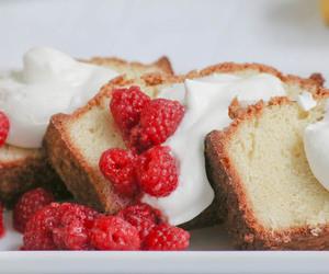 cake, pound cake, and lemon image