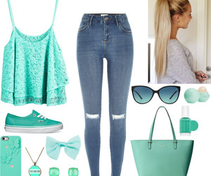 blue, fashion, and Polyvore image