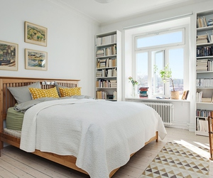 bedroom, bedroom decor, and books image