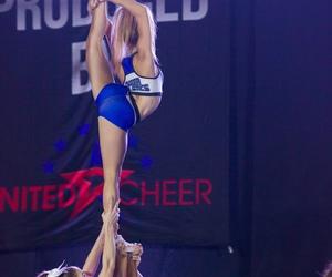 cheer, flyer, and cheerleader image