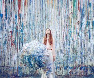 art, umbrella, and colors image