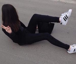 black, girl, and adidas image