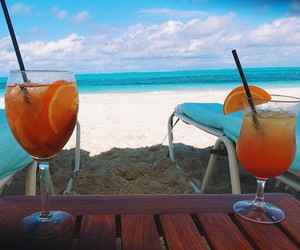 drink, beach, and beverages image