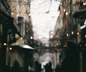 girl, lights, and street image