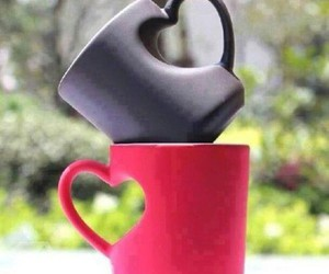 love, heart, and cup image