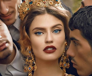 blue, crown, and eyes image