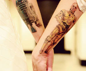 tattoo, star wars, and c3po image