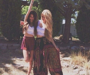 girl, friends, and hippie image