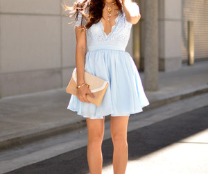 baby blue, stylist, and lace image