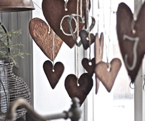 hearts, vintage, and wood image