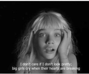 music, Sia, and big girls cry image