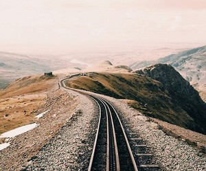 beautiful, landscape, and railway image