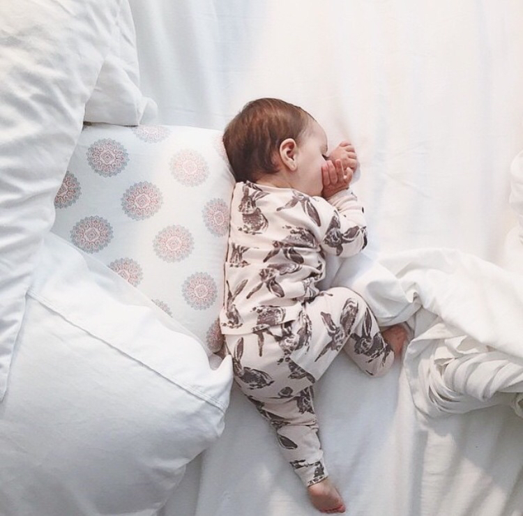 baby, bed, and love image