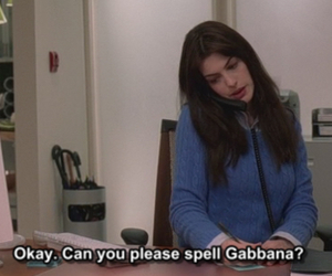Anne Hathaway, devil wears prada, and gabbana image