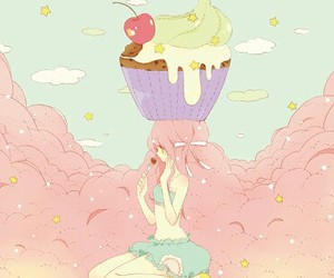 cupcake, drawing, and kawaii image