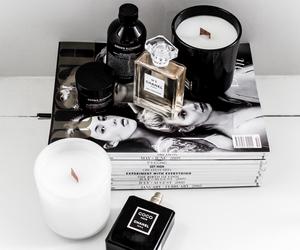 chanel, candle, and magazine image