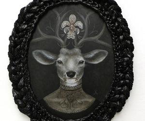 deer and frame image