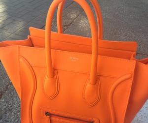 bag, orange, and fashion image