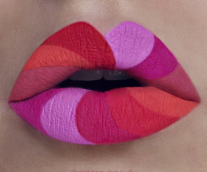 lips, pink, and make up image